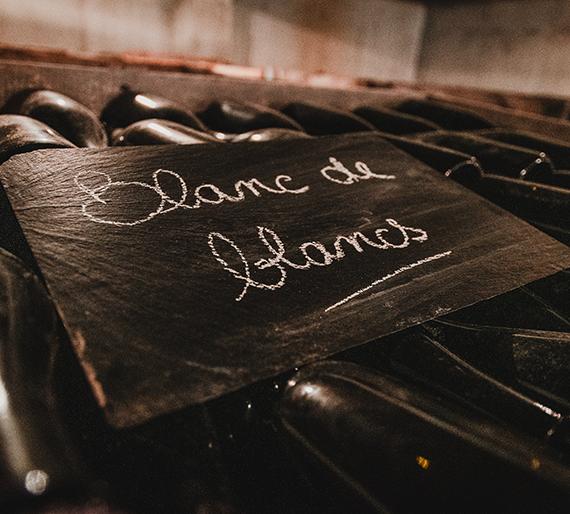 Bouteilles sur lies Blanc de Blancs Champagne Drémont Marroy