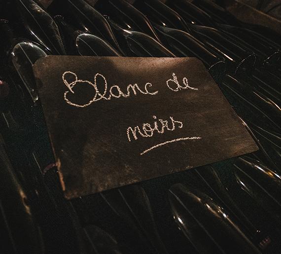 Bouteilles sur lies Blanc de noirs Champagne Drémont Marroy